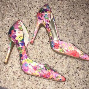 Macy's floral heels
